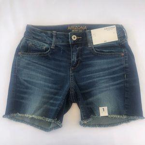 JCP Arizona Jeans Co. Blue Midi Shorts